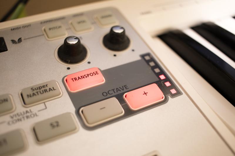 MIDI鍵盤のTRANSPOSE機能が「使える」ことに今更気付いた